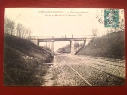 21 Cote D'Or NUITS SAINT GEORGES Le Pont St Bernard Champ De Bataille 1870  Train - Nuits Saint Georges