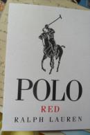 Red Polo Ralph Laurent - Cartes Parfumées