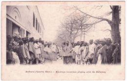 BATHURST ( Gambia River )  - Mandingo Musicians Playing With The Ballafong - Gambie
