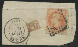 FRANCE FRANCIA 1863 - 1870 EMPIRE EMPEROR NAPOLEON III CENT. 40 USATO USED OBLITERE´ - 1863-1870 Napoleon III With Laurels