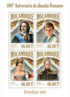 m13406a Mozambique 2013 Russia Romanov Dynasty s/s