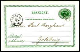 Entier Postal Suédois - Swedish Postcard - Circulé - Circulated - 1896. - Postal Stationery