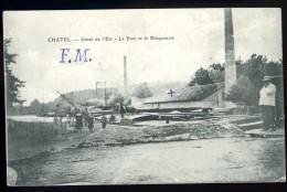 Cpa Du 88 Chatel Canal De L' Est --  Le Port Et La Briqueterie  -- Franchise Militaire   MAI8 - Chatel Sur Moselle