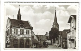 CPSM ZINSWILLER (Bas Rhin) - La Mairie Et L'église Catholique - Other Municipalities