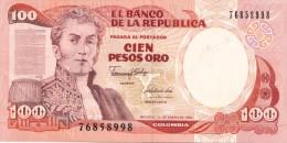 Billets -  B1209 - Colombie    - 100  Pesos Oro  ( Type, Nature, Valeur, état... Voir 2 Scans) - Colombie