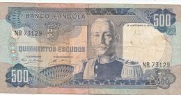 Billets -  B1212 - Angola - 500 Escudos ( Type, Nature, Valeur, état... Voir 2 Scans) - Angola