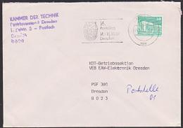 """DDR """"16. Parteitag CDU"""" MWSt.  Dresden 1987 Ex Oriente Pax Friedenstaube Logo Der CDU - DDR"""