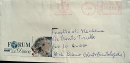 Comune Di ANCONA WOMAN Women DONNE Forum Della DONNA Clock Comuni D´Italia Italy Affrancatura Meccanica AM Red Meter Ema - Affrancature Meccaniche Rosse (EMA)