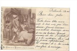 9521 - Le Cygne Et Le Cuisinier D'après Grandville - Contes, Fables & Légendes