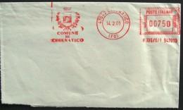 Comune Di CESENATICO Forlì Coat Of Arm Arms Comuni D´Italia AM Red Meter Ema - Affrancature Meccaniche Rosse (EMA)