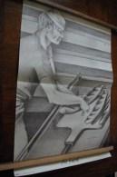 Publicité ANTAR. Affiche 40cm Sur 60 Cm.AU FOURNIL. Signature CABARET Didier - Publicités
