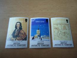 Brit. Antarktisgebiete: 3 Werte Halleys Komet 1986 - Britisches Antarktis-Territorium  (BAT)