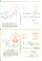 75- Paris - Tour Eiffel - 3 Empreintes Différentes. Voir Scan - Postmark Collection (Covers)