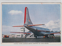 AK - Contol Tower Shannon Airport Rineanna CO. Clare  - Alte Karte - Galway