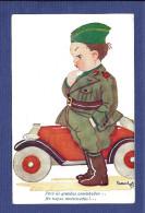LEGIÃO PORTUGUESA Uniforme Forças Motorizadas. Postal Militar Com Aguarela LEONEL CARDOSO 1939. WWII Postcard Portugal - Unclassified