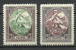 LATVIA Lettland 1920 Michel 44 - 45 A * - Lettonie