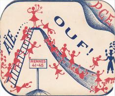 Rennes 35 Bretagne France Carte Ecole Guerre 1939 1945 Eleves Maitresses Bac Résisitance ? 1941 45 PCE - Vieux Papiers