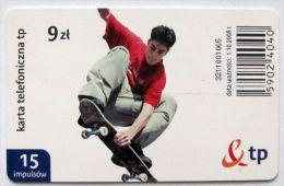 Poland (chip) - 15 U - PL-D 175b - E2 P 01/10/08 - Skateboard - Poland