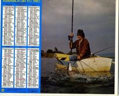 ALMANACH DES POSTES 1980 OBERTHUR  THEME PECHE PECHEUR  COMPLET PARFAIT ETAT VOIR 2 SCANS - Calendars