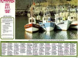 ALMANACH DES POSTES 1981 EDITION EYRELLE PORT ET MONTAGNE VOIR 2 SCANS PARFAIT ETAT COMPLET - Calendars