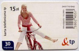 Poland (chip) - 30 U - PL-D 181 - E2 P 01/02/09 - Girl On Bike - Poland