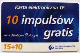 Poland (chip) - 15+10 U - PL-DP 09a - Si E 01/06/06 - Poland