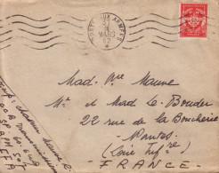 BPM507 - POSTES AUX ARMEES 31-3-1952 - LETRE EN FRANCHISE AVEC FM ROUGE. - Postmark Collection (Covers)
