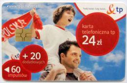 Poland (chip) - 60+20 U - PL-DP 34 - E2 P 01/09/10 - Father And Son - Poland