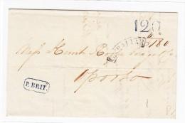 Gibraltar - Vorphila Brief Mit Inhalt 1842-11-3 Nach Porto - Vershc. Stempeln - Gibraltar