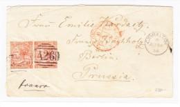"""Gibraltar - Brief Hülle 1874-08-24 Nach Berlin Transit """"London Paid"""" Und Ankunfts-Stempel - Gibraltar"""