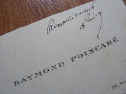 Raymond POINCARE (1860-1934) - PRESIDENT De La REPUBLIQUE - Autographe - Autographes