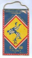 W121 / SPORT - Championship 1978 MILICZ  Wrestling Lutte Ringen  12.5 X 21.5 Cm. Wimpel Fanion Flag  Poland Pologne - Lotta (Wrestling)