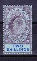 Gibraltar 1910 SG # 72  * - Two Shillings - Gibraltar