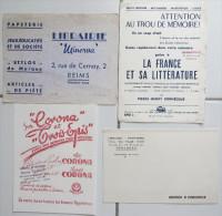 Buvard Cahier CoronaTrois Epis Littérature Taur Minerva Reims Papeterie Librairie - Papel Secante