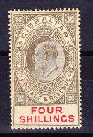 Gibraltar 1910 SG # 73  * - Four Shillings - Gibraltar
