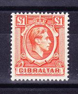 Gibraltar 1938 SG # 131 **  1 £ Orange - Gibraltar