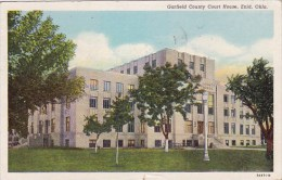 Oklahoma Enid Garfied County Court House 1952