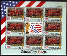 SAINT VINCENT GRENADINES  Feuillet  N ° 2101 ( Maroc )  * *  Cup 1994 Football  Soccer Fussball - World Cup