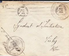 MAROC - 1938 - ENVELOPPE FM De CASABLANCA - LE COMMANDANT D'ARMES DE LA PLACE - Marcophilie (Lettres)