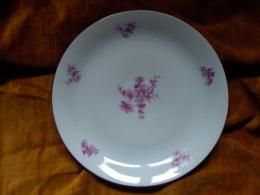 ASSIETTE PLATE - SERVICE ANDREA  En Porcelaine Fine De Boheme Czech Republic. 1964. - Céramiques