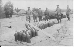Dépot D'obus De 150mm Pour Obusier Fusée Dopp Z Artllerie Allemande Garde Autrichien 1carte Photo 14-18 Ww1 WwI Wk - Guerre, Militaire