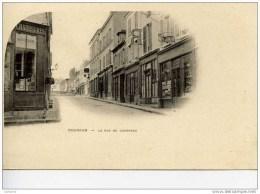 91-DOURDAN-La Rue De Chartres-Carte PRECURSEUR Comme Neuve-Commerces - Dourdan