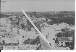 Saint-souplets Marne Vue Du Village 1carte Photo 14-18 1914-1918 Ww1 WwI Wk - War, Military
