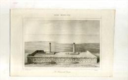 - ASIE MINEURE . LE HIERON DE CNIDE . GRAVURE SUR ACIER 1ere1/2 XIXe S. - Archéologie