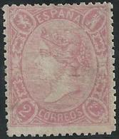 ESPAÑA 1865 - Edifil #74 - MLH * - Unused Stamps