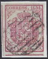 "ESPAÑA 1854 - Edifil #33itb - VFU - Variedad: ""8"" Roto - 1850-68 Reino: Isabel II"