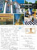 St Petersburg, Russia Postcard Posted 2012 ESTONIA Stamp - Estonia