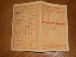 Vandélicourt-3 Cartes D'électeur 1959-1962-1967-Toutes Scannées. - Kaarten