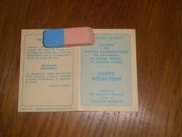 Margny Sur Matz -(Oise)-Cartes D'électeur -Élections Aux Conseils D'administration Des Organismes Du Régime Général .... - Cartes
