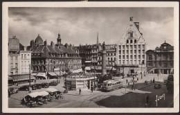 CPSM 59 - LILLE (Nord) - La Grande Place, L'ancienne Bourse, La Déesse Et La Grand-garde - Lille